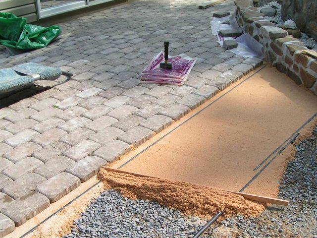 Основа для укладки тротуарной плитки
