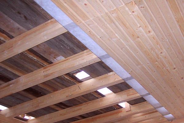 Потолок бани своими руками