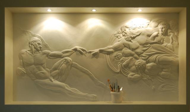 Как сделать барельеф на стене