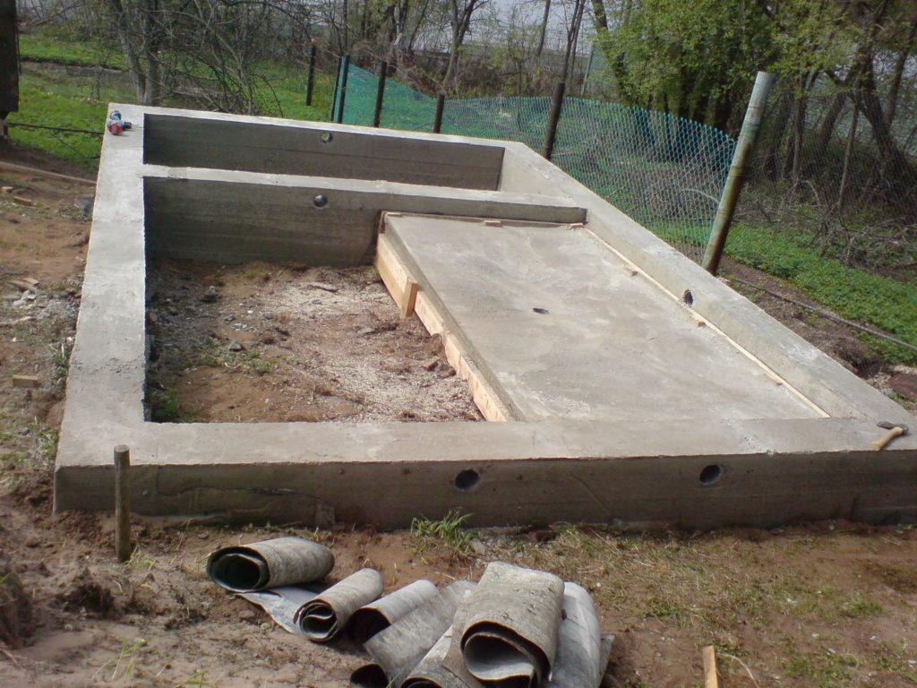 Фундамент своими руками под баню из блоков