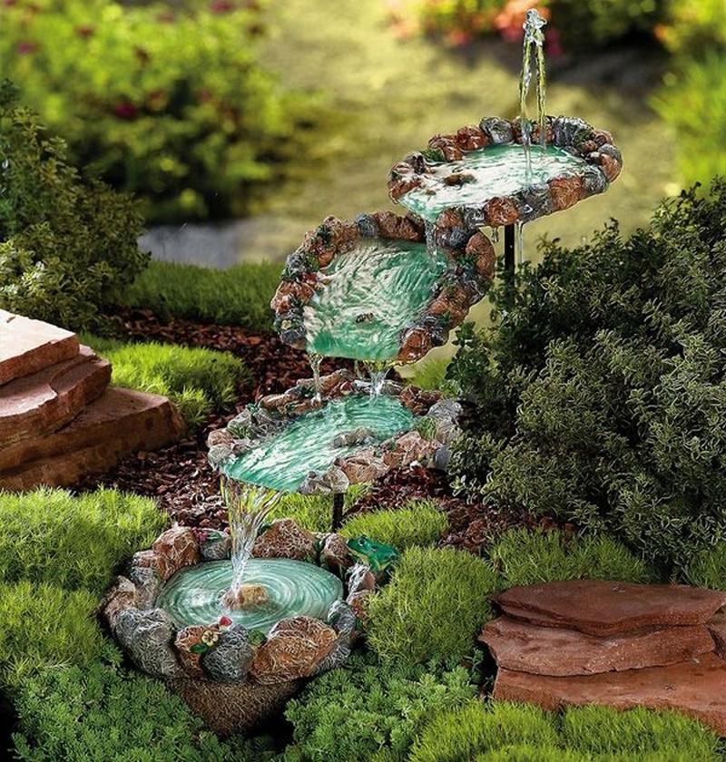 Как сделать декоративный фонтан на даче своими руками 12