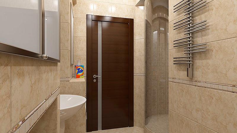 Как установить дверь в ванную