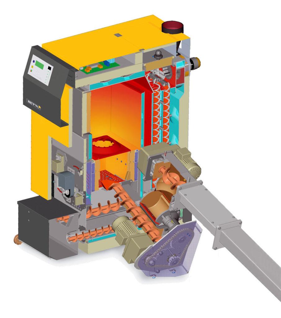 Автоматический твердотопливный котёл длительного горения 5