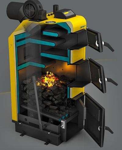 Автоматический твердотопливный котёл длительного горения 3