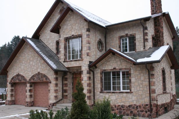 Отделка фасада дома своими руками