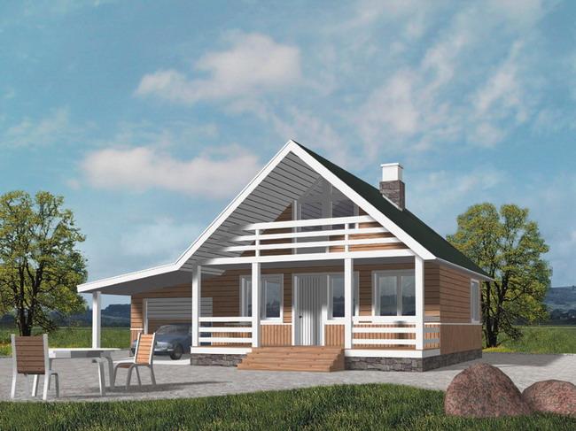 Простые проекты одноэтажных и двухэтажных домов