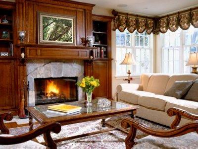Идеи дизайна гостиной с камином