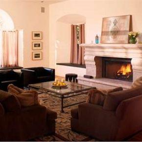 Интерьер гостиной с камином - фото (29)