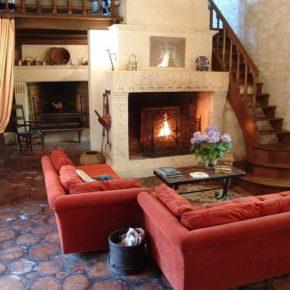 Интерьер гостиной с камином - фото (40)