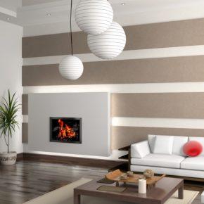Интерьер гостиной с камином - фото (62)