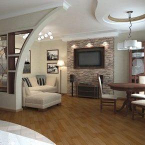 Интерьер гостиной с камином - фото (90)