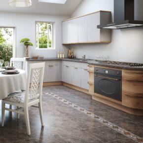 Напольная плитка для кухни - фото (104)