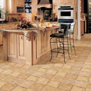 Напольная плитка для кухни - фото (106)