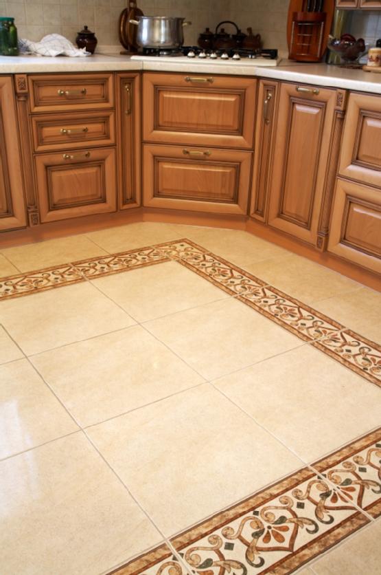Дизайн напольной плитки на кухне фото