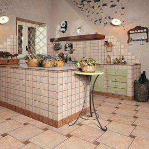 Напольная плитка для кухни - фото (15)