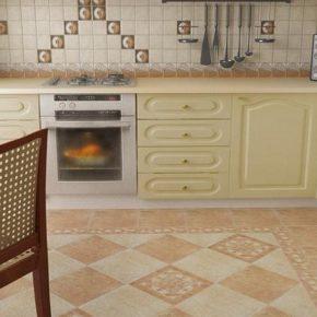 Напольная плитка для кухни - фото (21)