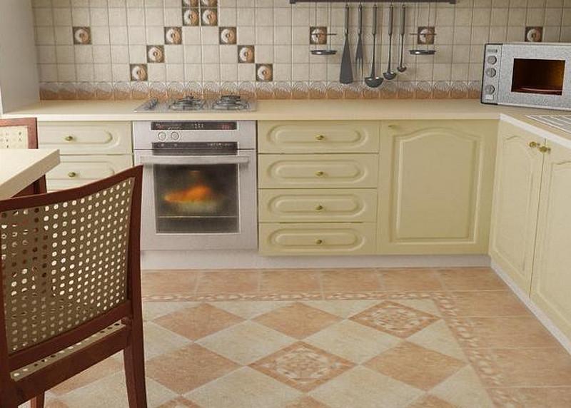 Кафель для кухни фото дизайн на пол