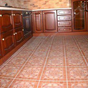 Напольная плитка для кухни - фото (28)