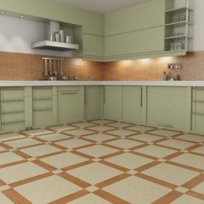 Напольная плитка для кухни - фото (35)