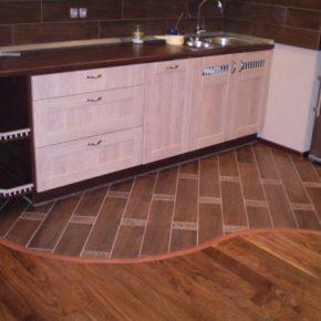 Напольная плитка для кухни - фото (40)