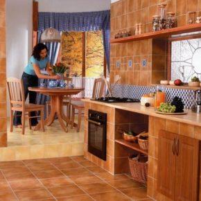 Напольная плитка для кухни - фото (51)