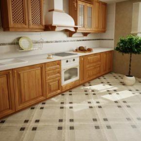 Напольная плитка для кухни - фото (52)