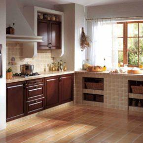 Напольная плитка для кухни - фото (58)