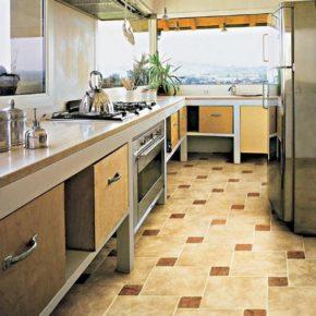 Напольная плитка для кухни - фото (68)