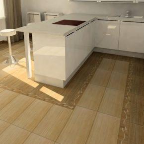 Напольная плитка для кухни - фото (72)
