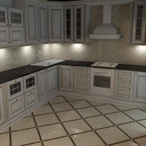 Напольная плитка для кухни - фото (85)