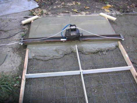 Виброрейка для бетона своими руками